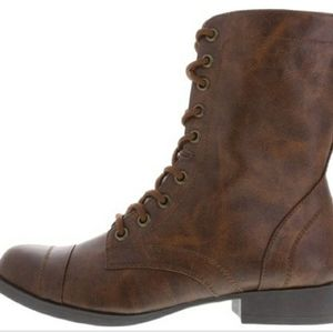 Brown brash boots